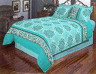 Яркое постельное белье в цвете бирюза 50267