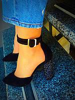Очень красивые туфли на каблуке(тёмный блеск)