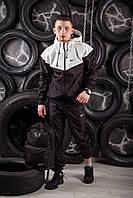 Виндранер, ветровка, куртка весенняя, осенняя, черный+белый