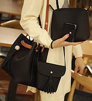 Практичный удобный набор сумок 4 в 1 для модных деловых девушек. Дешево и доступно. Код: КГ938