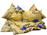 Теплый практичный комплект - двуспальное одеяло и 2 подушки ТЕП  «Coupage», чехол - хлопок