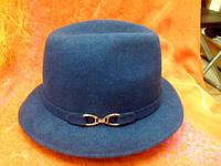 Шляпы фетровые итальянки р-р 57, темносиний цвет
