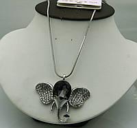 Женские кулоны- слоники с кристаллами. Цепочка 70 см. Кулоны RRR оптом. 244