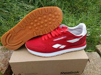 Кроссовки Reebok Classic Suede Red Красные мужские