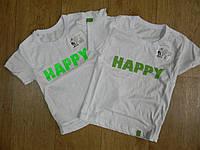"""Футболка """"Sweety/Happy"""", кулир-пенье, р.28-34"""