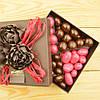 """Набор элитных шоколадных конфет """"Дражелино ассорти №2"""". Размер: 126х126х40мм, вес 300г"""