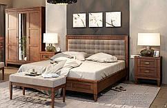 Кровать двухспальная Бавария, мягкое изголовье