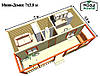 Модульный дом для постоянного проживания, Модульные дачные дома, Модульный дом для проживания под ключ, фото 6