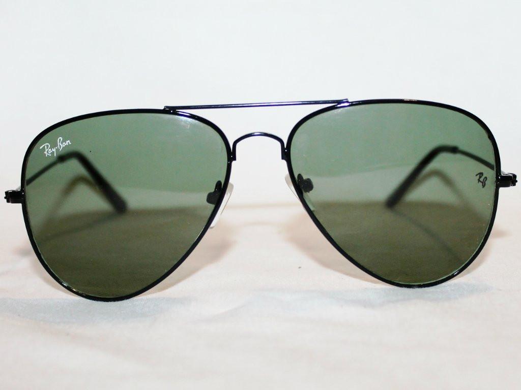 Солнцезащитные очки Ray-Ban Aviator Капли 3026 Черно-Зеленые - iOpt  Оптово-Розничный 65afb66859f