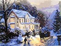 Картина по номерам 40х50, Зима