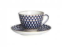 Набор чашка чайная с блюдцем И.Ф.З. Весенняя Кобальтовая сетка 19918
