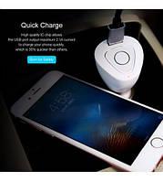 Автокомплект громкой связи Rock Muca Bluetooth + АЗУ         Белый