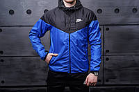 Виндранер, ветровка, куртка весенняя, осенняя! Windrunner Nike Черный+синий