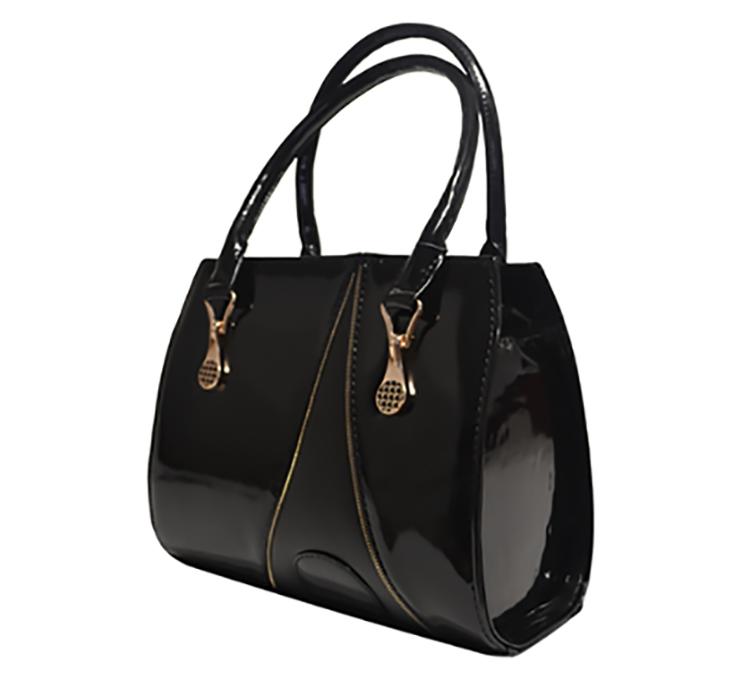 9e88cf1176c4 Сумка женская черная лаковая стильная каркасная - Интернет-магазин женских  сумок в Черновцах