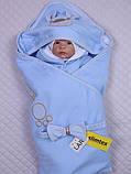 """Демисезонный набор для новорожденных, """"Мишутка"""" голубой, фото 4"""