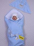 """Демисезонный набор для новорожденных, """"Мишутка"""" голубой, фото 5"""