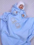 """Демисезонный набор для новорожденных, """"Мишутка"""" голубой, фото 6"""