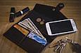 Портмоне кожаное 3.0 графит-клубника, фото 9