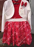Детское платье в красном цвете 8958