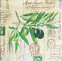 Салфетка для декупажа Оливковая ветвь 33*33 см, 1 шт