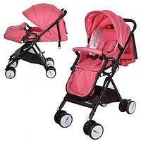 Детская прогулочная коляска Bambi Розовая (A8-PINK) с футкавером