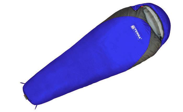 Спальник Terra Incognita Junior 200 (L) синий/серый 4823081504474, фото 2
