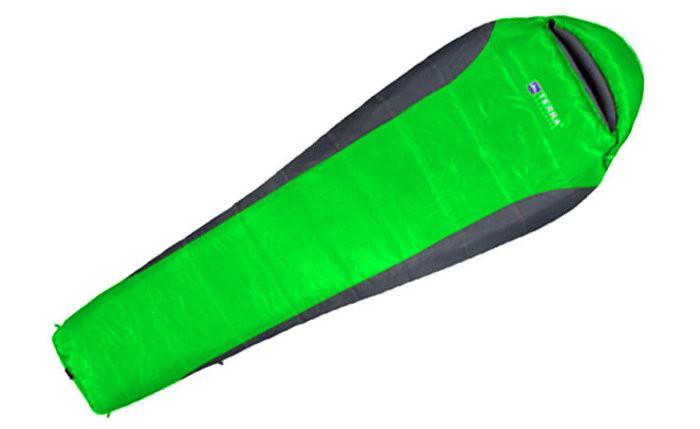 Спальник Terra incognita Siesta 400 зеленый/серый  4823081501664 + Бесплатная доставка по Украине