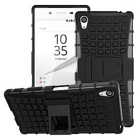 Чехол накладка для Sony Xperia Z5 Premium E6853 / Premium Dual E6883 противоударный с подставкой, черный
