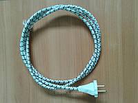 Шнур для утюга 10А 220В (сечение провода 2*0,75мм²),1,5м