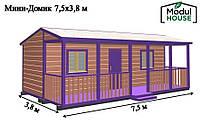 Модульный каркасный дом всесезонный, Энергоэффективный модульный / каркасный дом