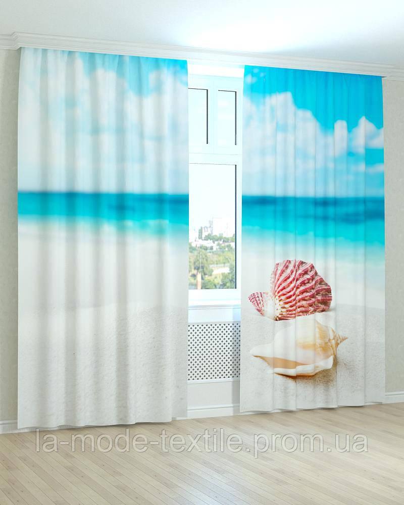 Фотошторы 3D Ракушка на пляже