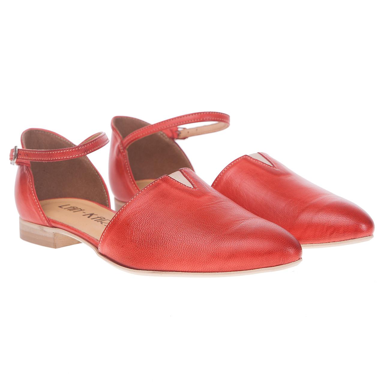Босоножки женские Lan-Kars (кожаные, оригинальные, с закрытым носком)