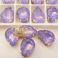 Cтразы в цапах. Капля. Размер 13x18. Цвет Lt Purple Opal
