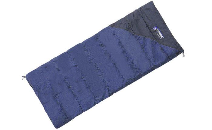 Спальник Terra Incognita Campo 200 синий/серый 4823081502364 + Бесплатная доставка по Украине