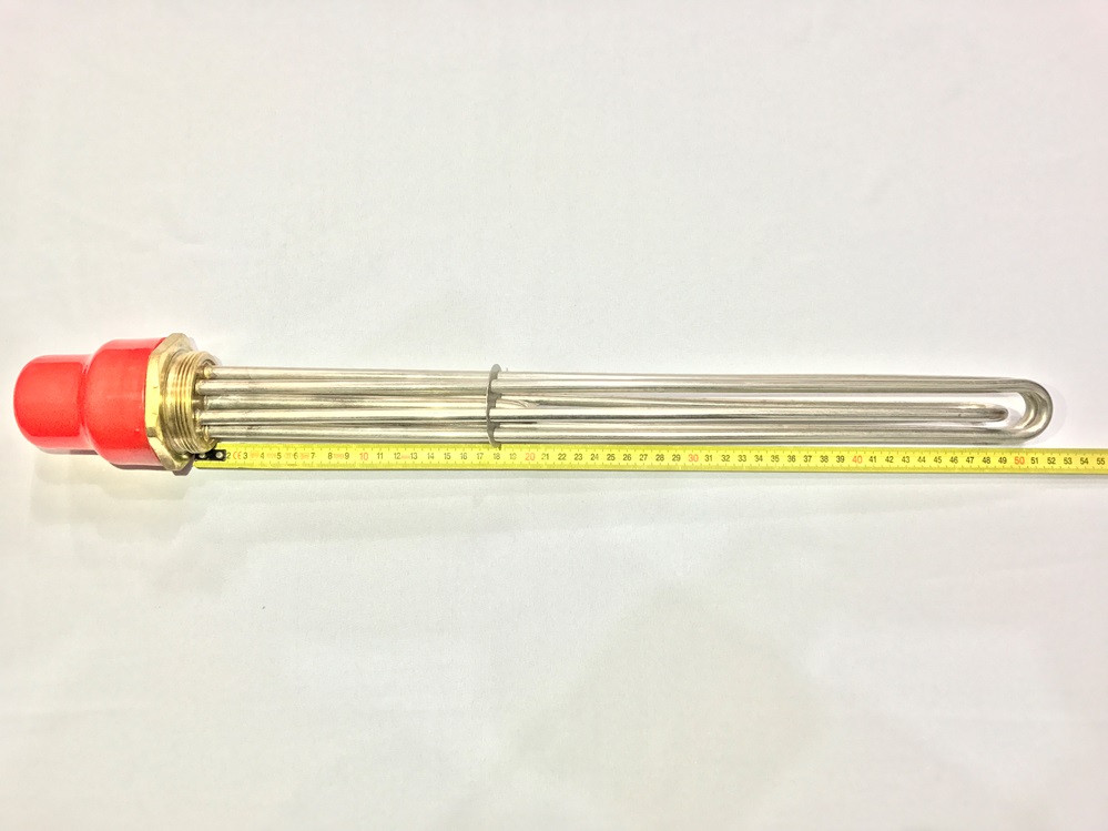 Блок тэн (нержавейка) 15 кВт резьба 2 дюйма 380 В производство Турция SANAL