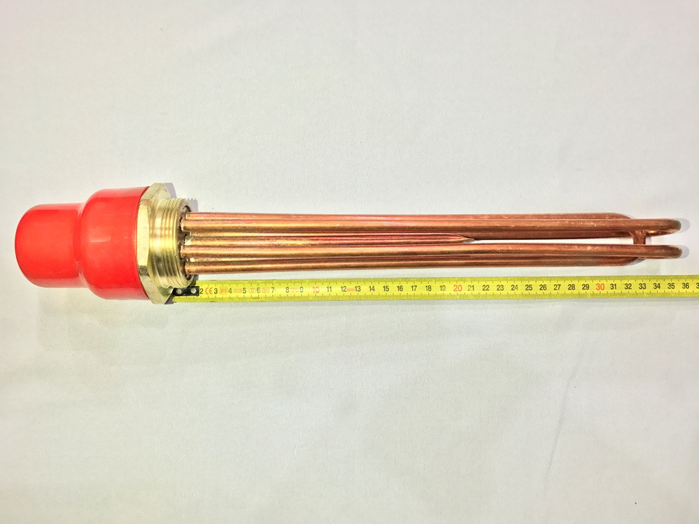 Блок тэн (медный) 6 кВт резьба 2 дюйма 220 В производство Турция SANAL
