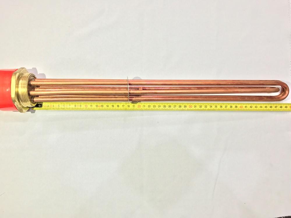 Блок тэн (медный) 15 кВт резьба 2 дюйма 220 В производство Турция SANAL