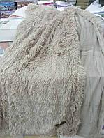 Покрывало/плед (искусственный мех) 220*240 Длинный ворс (кофе с молоком)