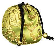 """Шелковый мешочек для горячего и холодного массажа """"Ацуи"""" - зеленый, 1 шт"""