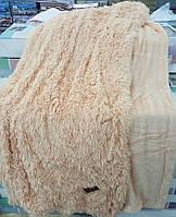 Покрывало/плед (искусственный мех) 220*240 Длинный ворс Персиковый