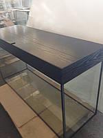Акваріум зі скляною  кришкою прямий 312л, (120х40х65)