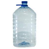 Пэт бутылка пластиковая 6 л, 36 шт в упаковке с крышкой и ручкой.
