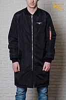 Мужская куртка-бомбер Olymp Long black