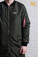 Мужская куртка-бомбер Olymp Long khaki