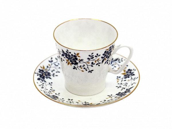 Чашка кофейная с блюдцем И.Ф.З. Черный кофе Тонкие веточки 80 мл 13635