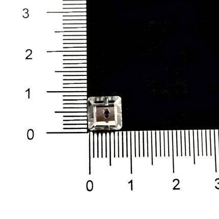 Камни-стразы пришивные арт. 3645 8мм квадратные, пайетки, фото 2