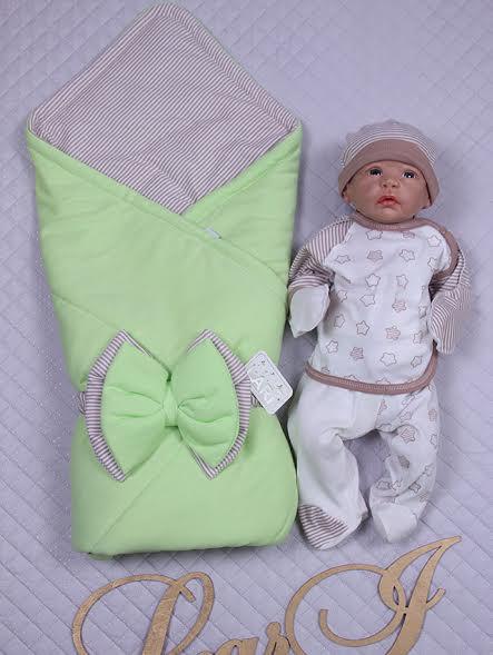 """Демисезонный набор для новорожденных, """"Стильный Капитошка 2"""" - 4 предмета"""