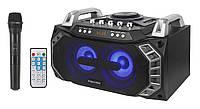 Бумбокс портативный с радиомикрофоном KM-0533 - 100W (USB/FM/Bluetooth)