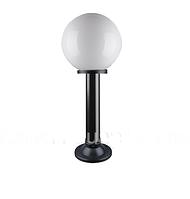 """Светильник парковый уличный """"Столб"""" 0.50 м с базой для столба и шар φ250 белый"""