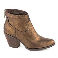 Модные Кожаные Ботинки Бронзовые